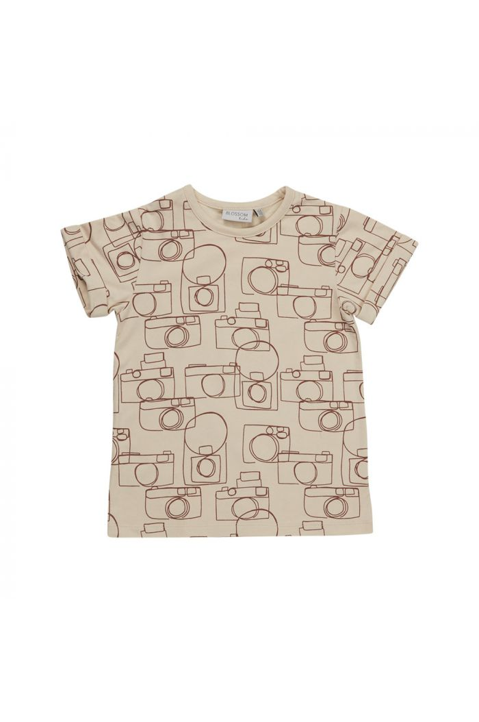 Blossom Kids T-shirt Camera Chaos Soft Sand_1
