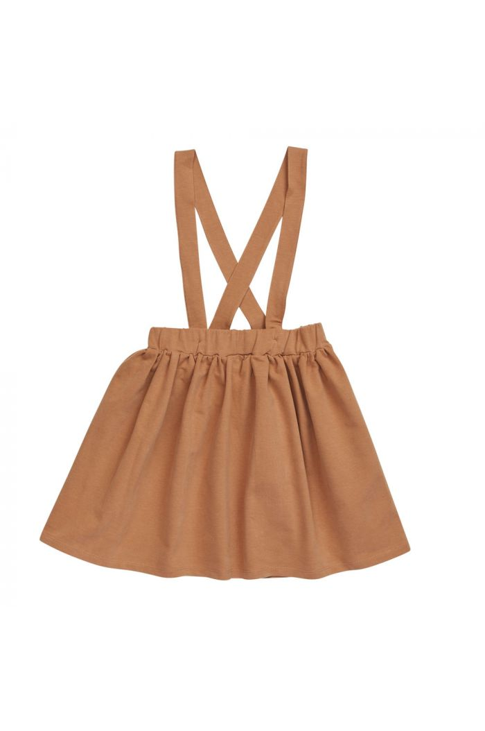 Blossom Kids Suspender Skirt Caramel Fudge_1