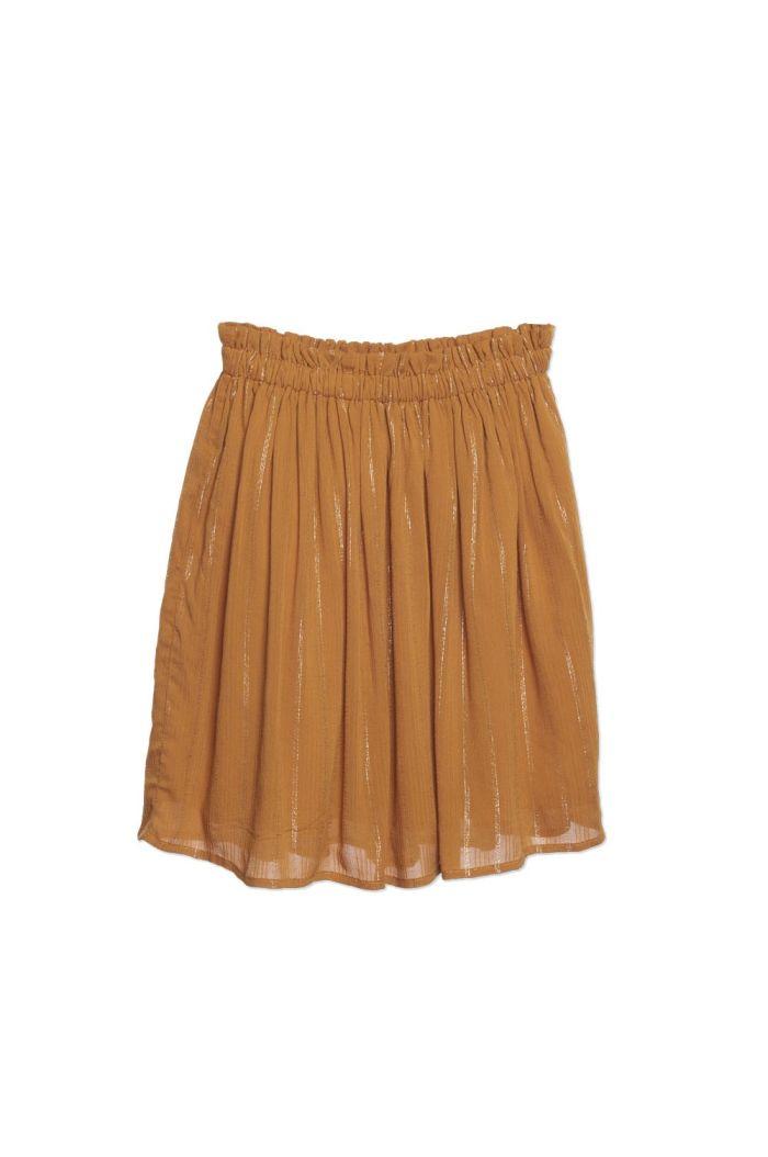 Wander &Wonder Gathered Skirt Tumeric Lurex_1