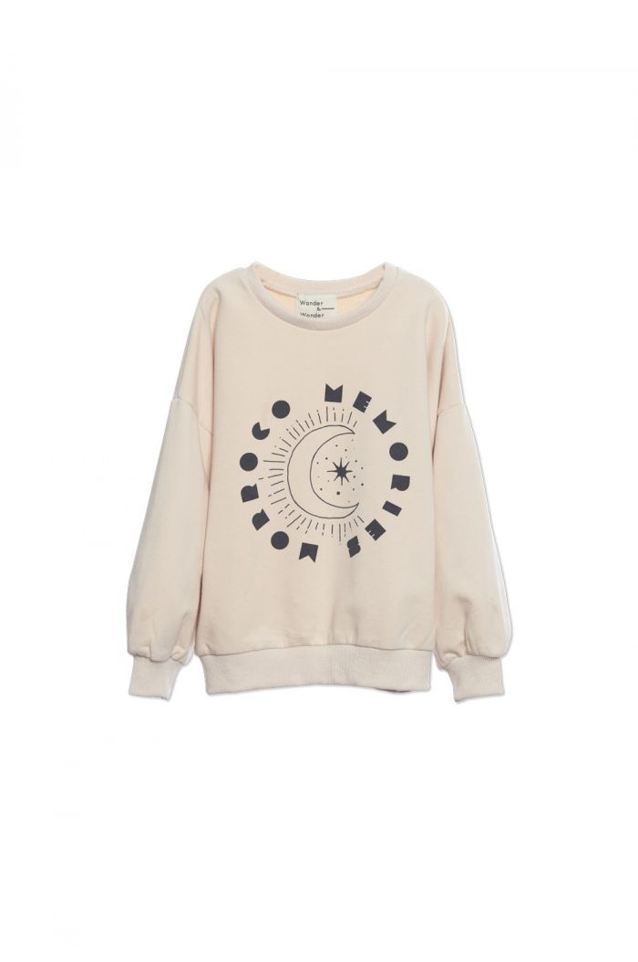 Wander &Wonder Desert Print Sweatshirt Ecru_1