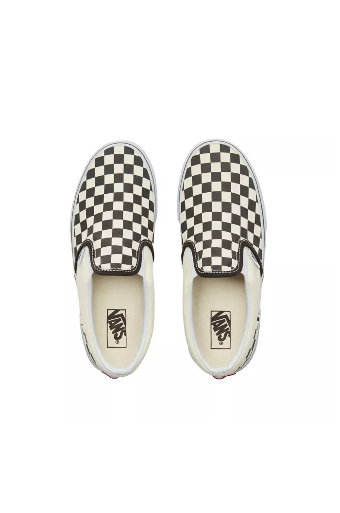 Vans Toddler Classic Slip-On Black&White Checkerboard/White