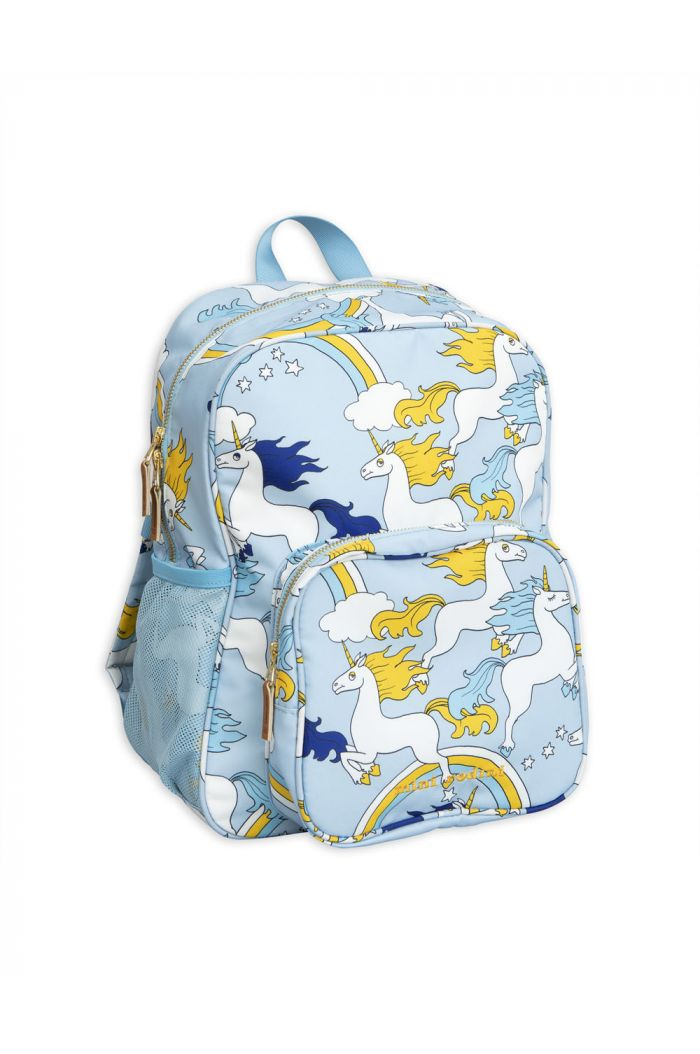 Mini Rodini Unicorn school bag Light Blue