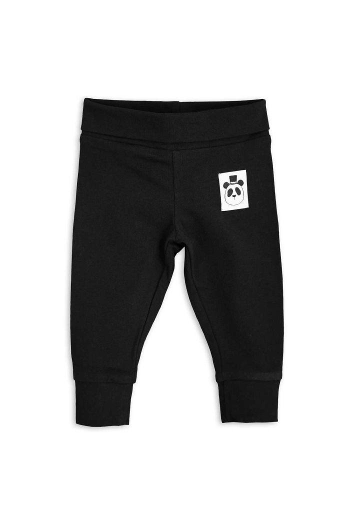 Mini Rodini Basic newborn leggings Black_1
