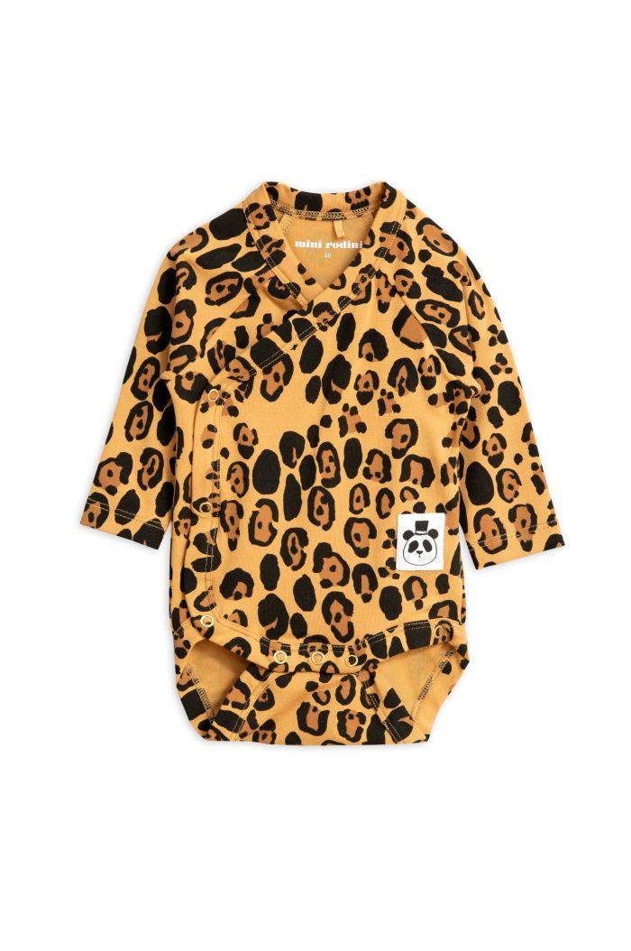 Mini Rodini Basic leopard wrap body Beige