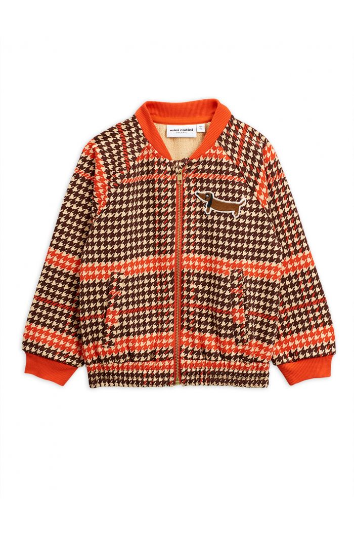 Mini Rodini Houndstooth bsb cardigan Red