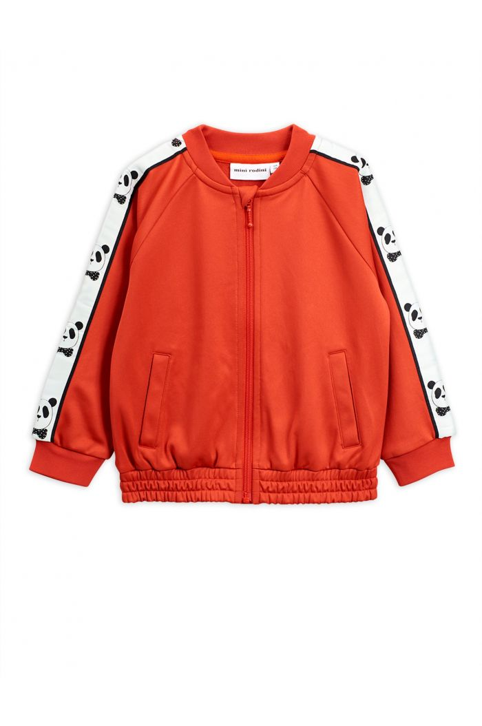Mini Rodini Panda track jacket Red