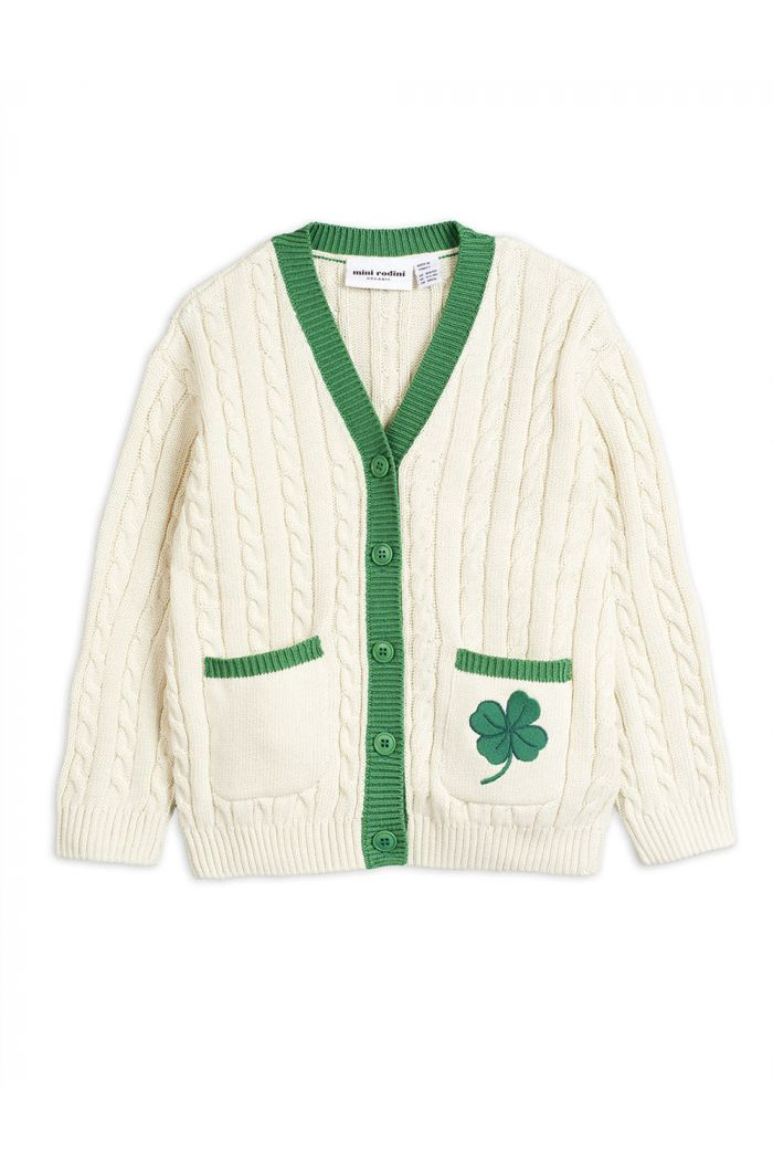 Mini Rodini Tennis cardigan White