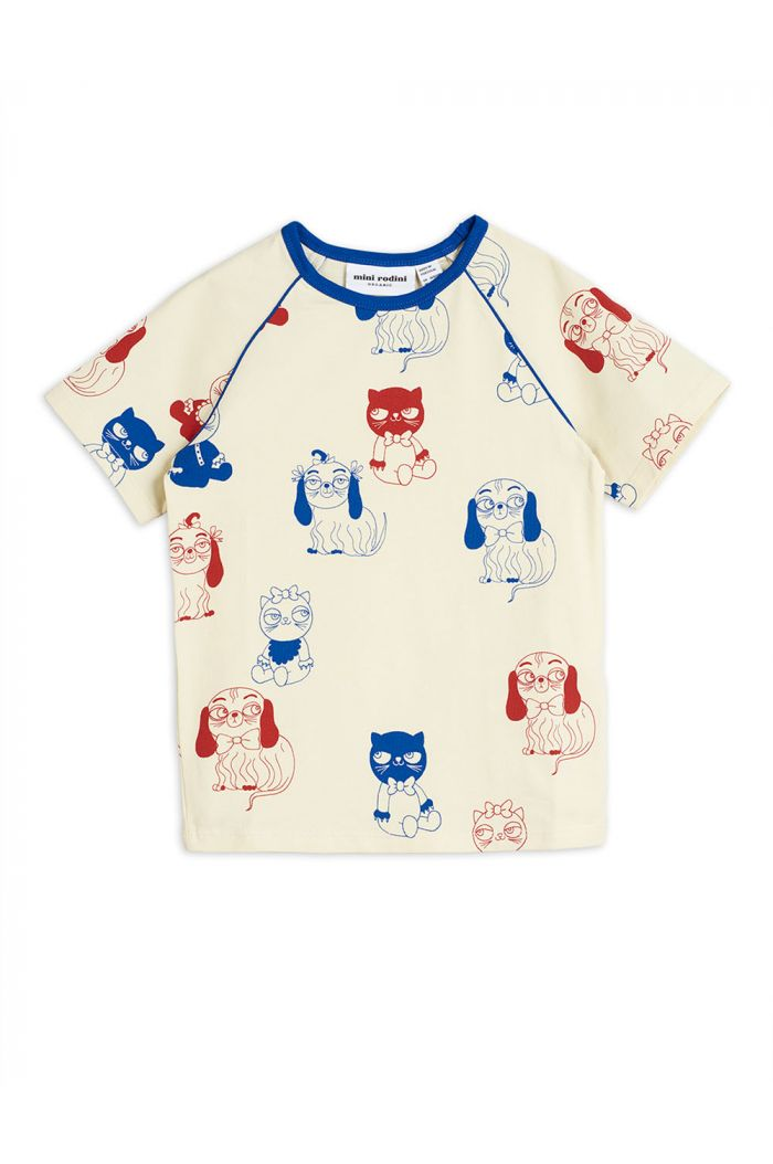 Mini Rodini Minibaby all-over print shortsleeve tee Offwhite