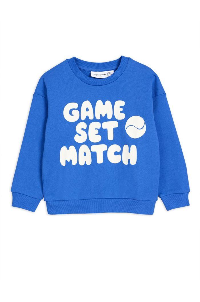 Mini Rodini Game single print sweatshirt Blue