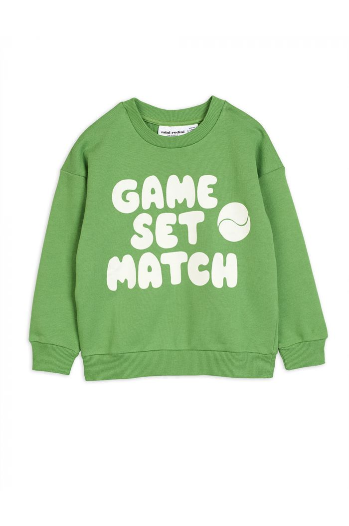 Mini Rodini Game single print sweatshirt Green