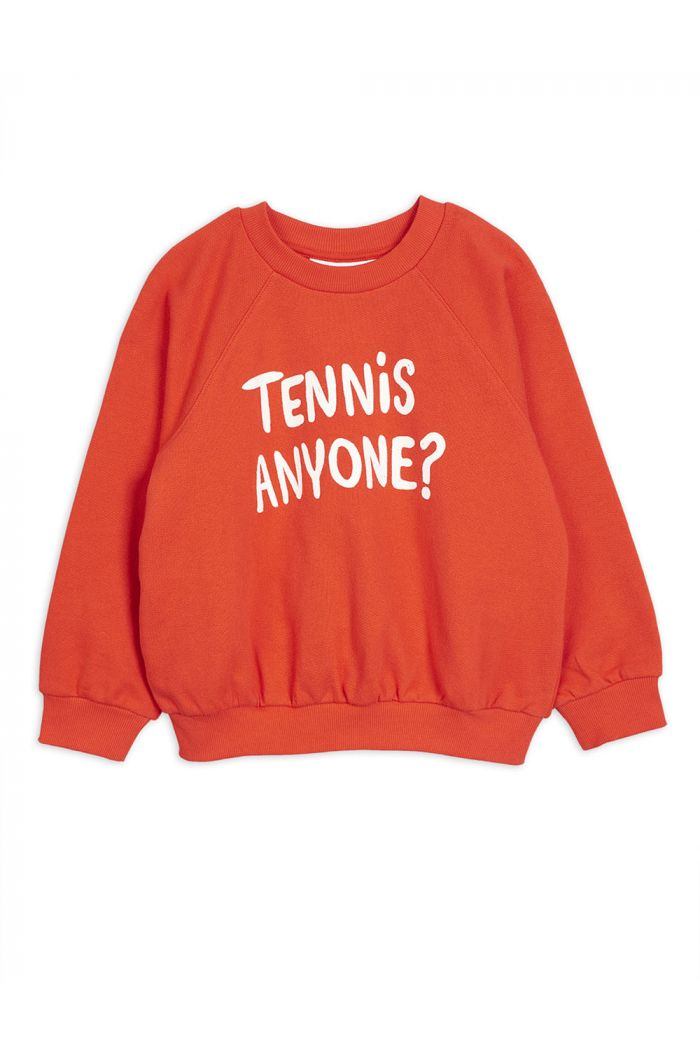Mini Rodini Tennis anyone single print sweatshirt Red