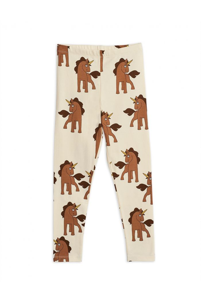 Mini Rodini Unicorns all-over print leggings Offwhite