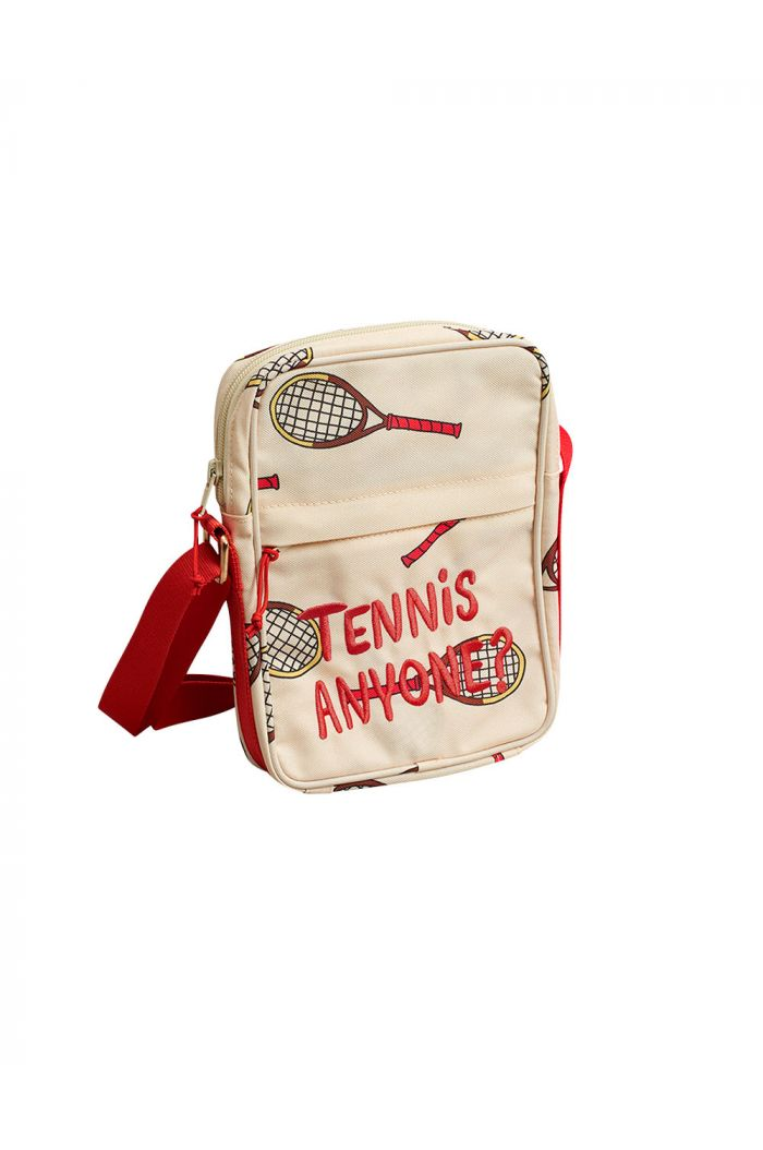 Mini Rodini Tennis messenger bag Offwhite