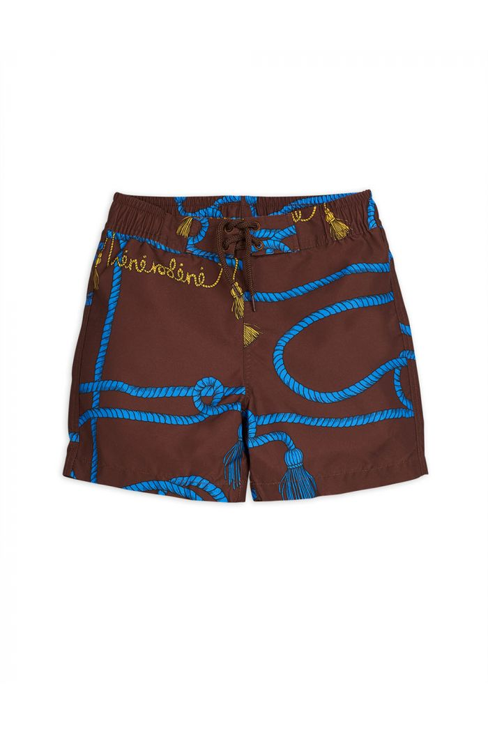 Mini Rodini Rope swimshorts Brown