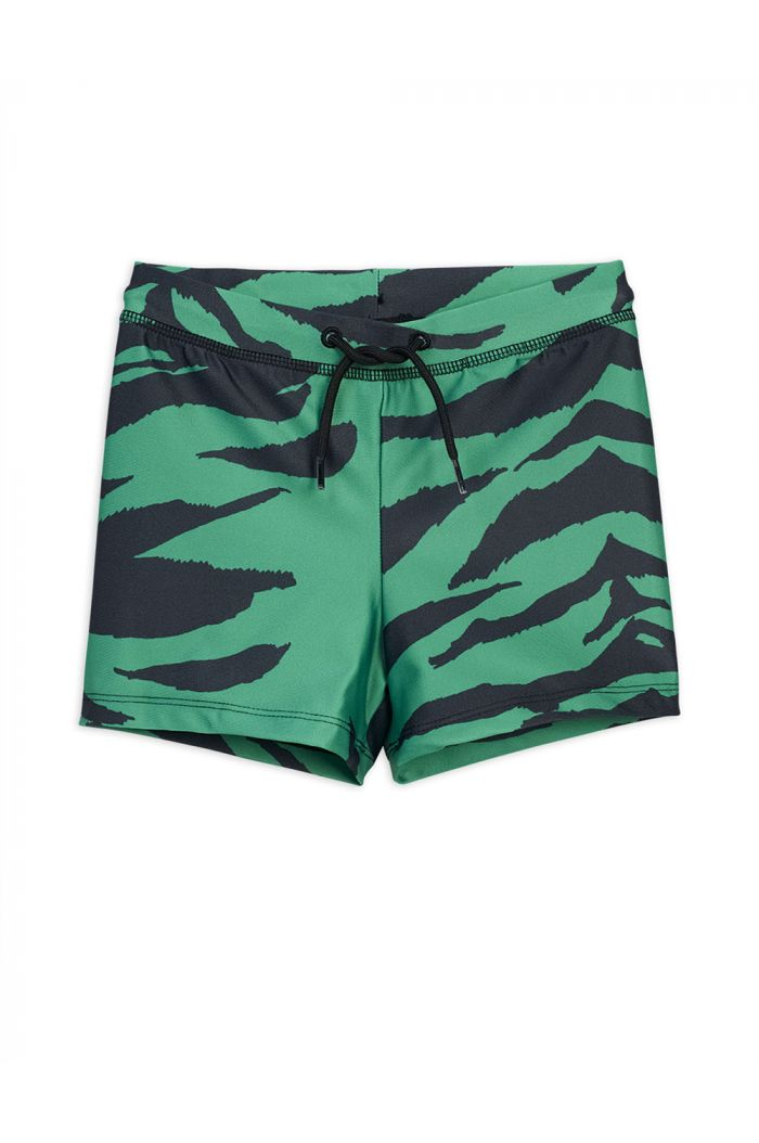 Mini Rodini Tiger all-over print swimpants Green