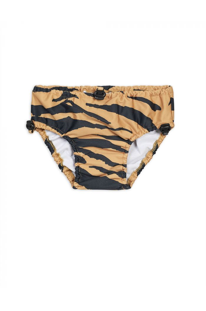 Mini Rodini Tiger baby swim pants Brown