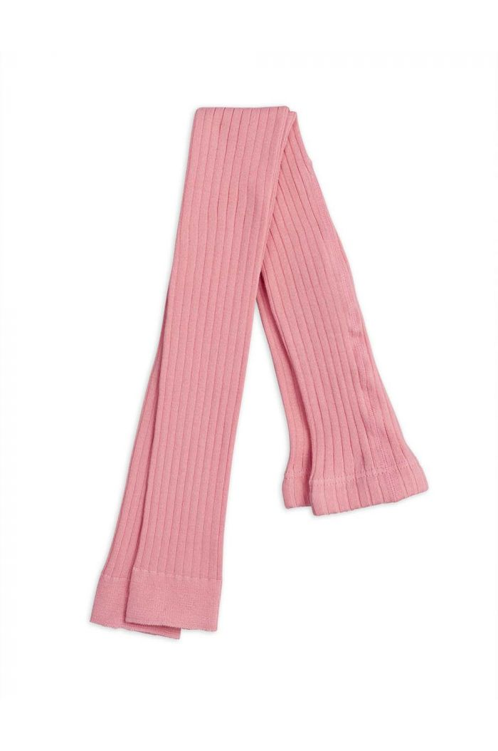 Mini Rodini Ribbed leggings Pink_1