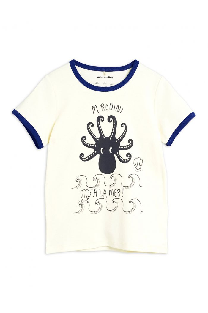Mini Rodini Octopus shortsleeve tee Blue