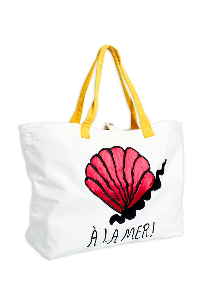 Mini Rodini A la mer beach bag Offwhite