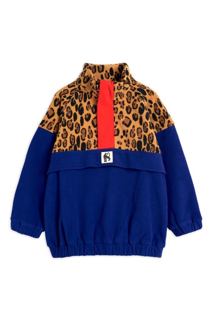 Mini Rodini Fleece zip pullover Beige_1