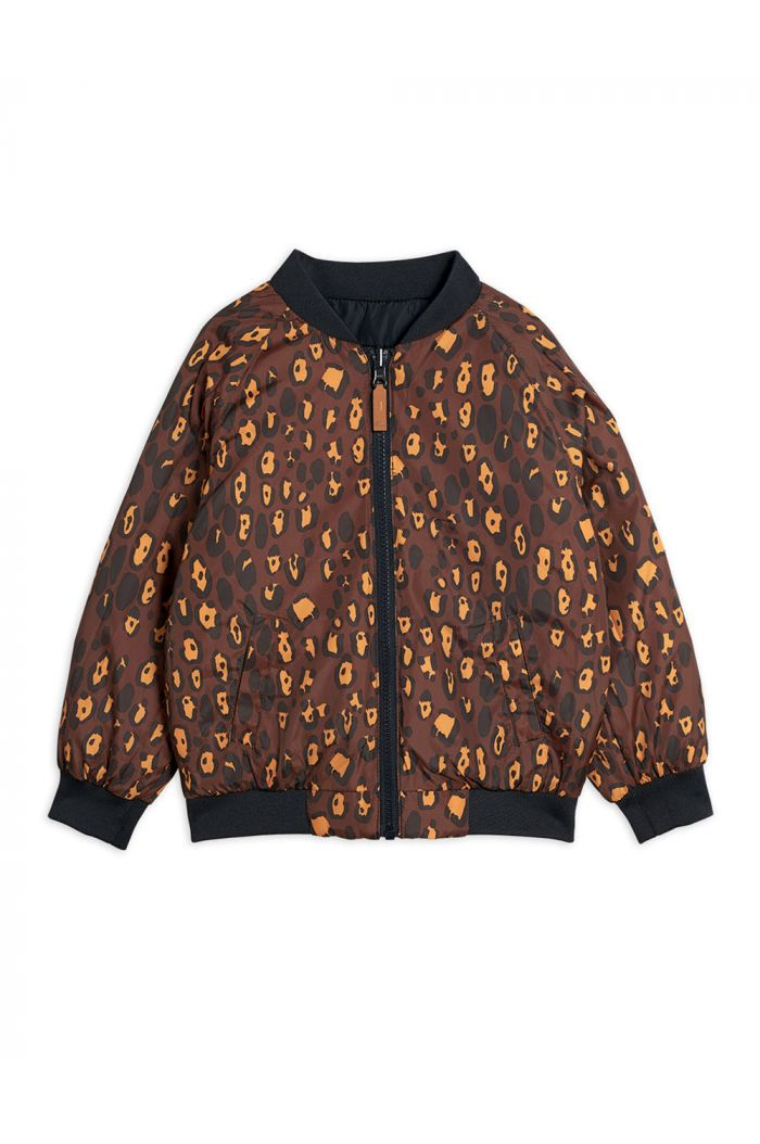 Mini Rodini Leopard insulator jacket Black_1