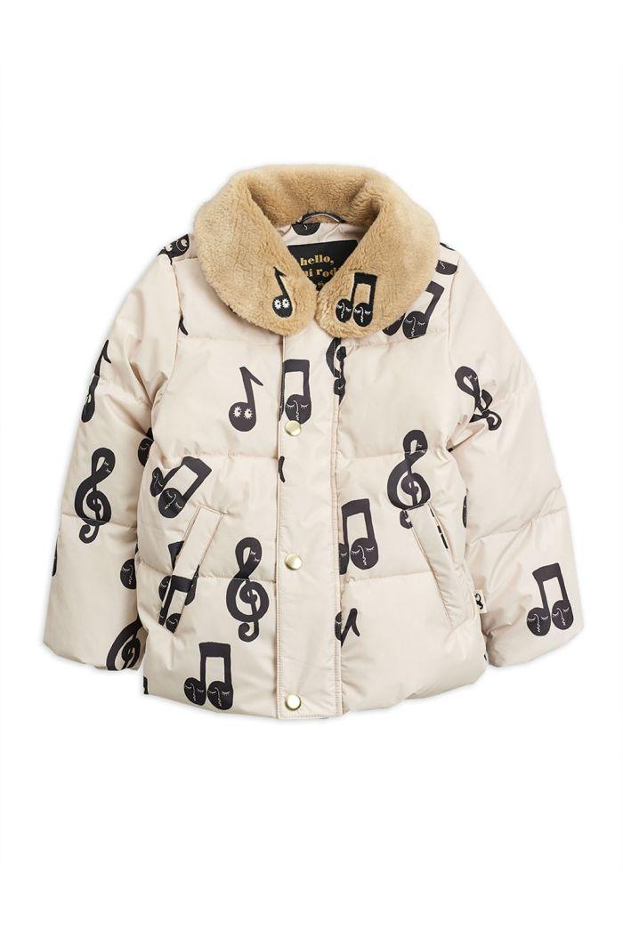 Mini Rodini Notes puffer jacket Offwhite_1