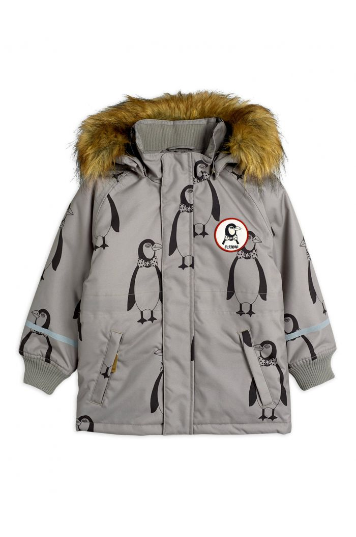 Mini Rodini K2 penguin parka Grey_1