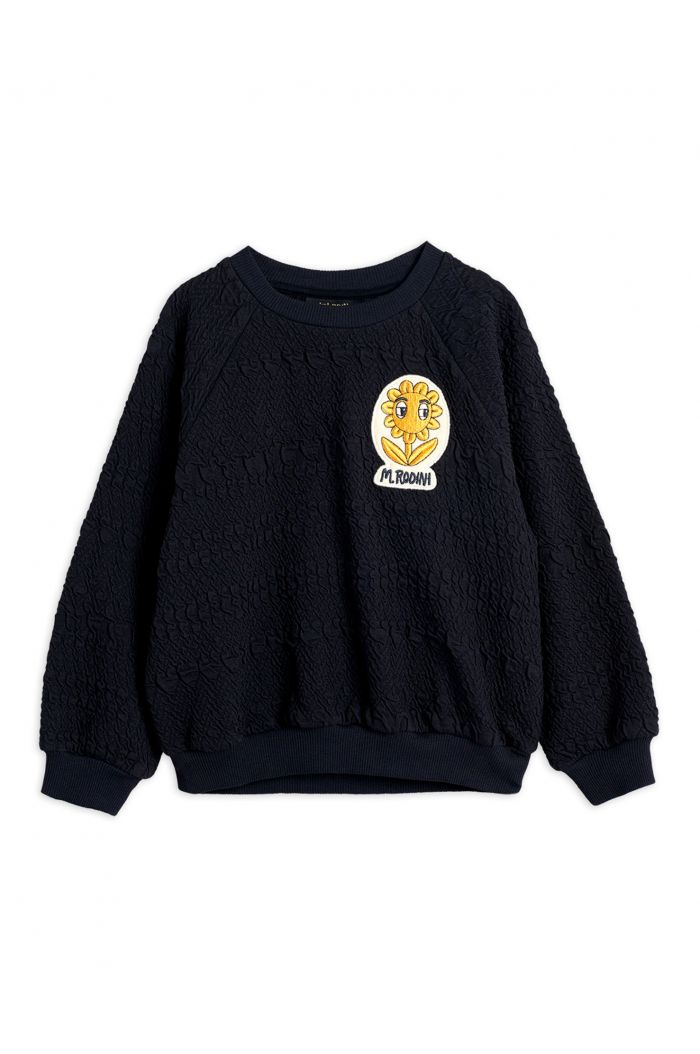 Mini Rodini Flower patch sweatshirt Black_1
