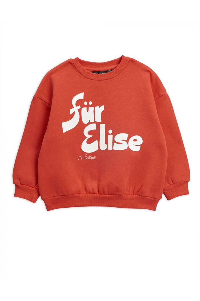Mini Rodini Für Elise single print sweatshirt Red_1