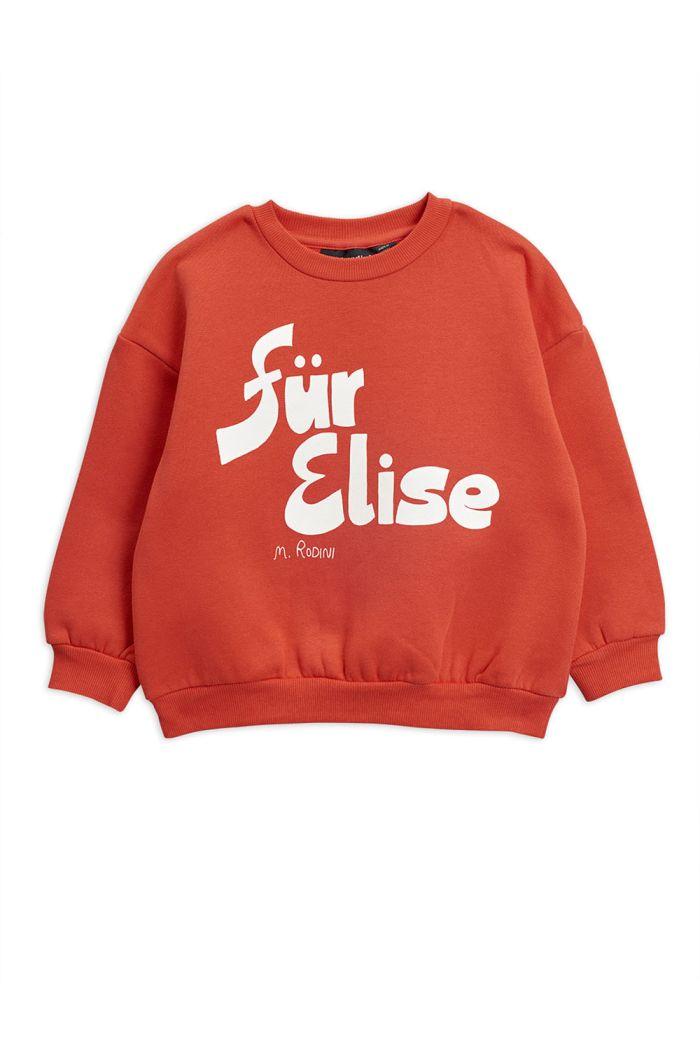 Mini Rodini Für Elise single print sweatshirt Red_1