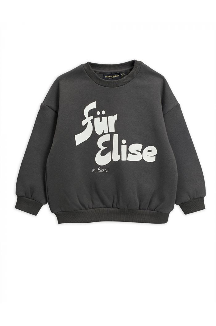 Mini Rodini Für Elise single print sweatshirt Grey_1