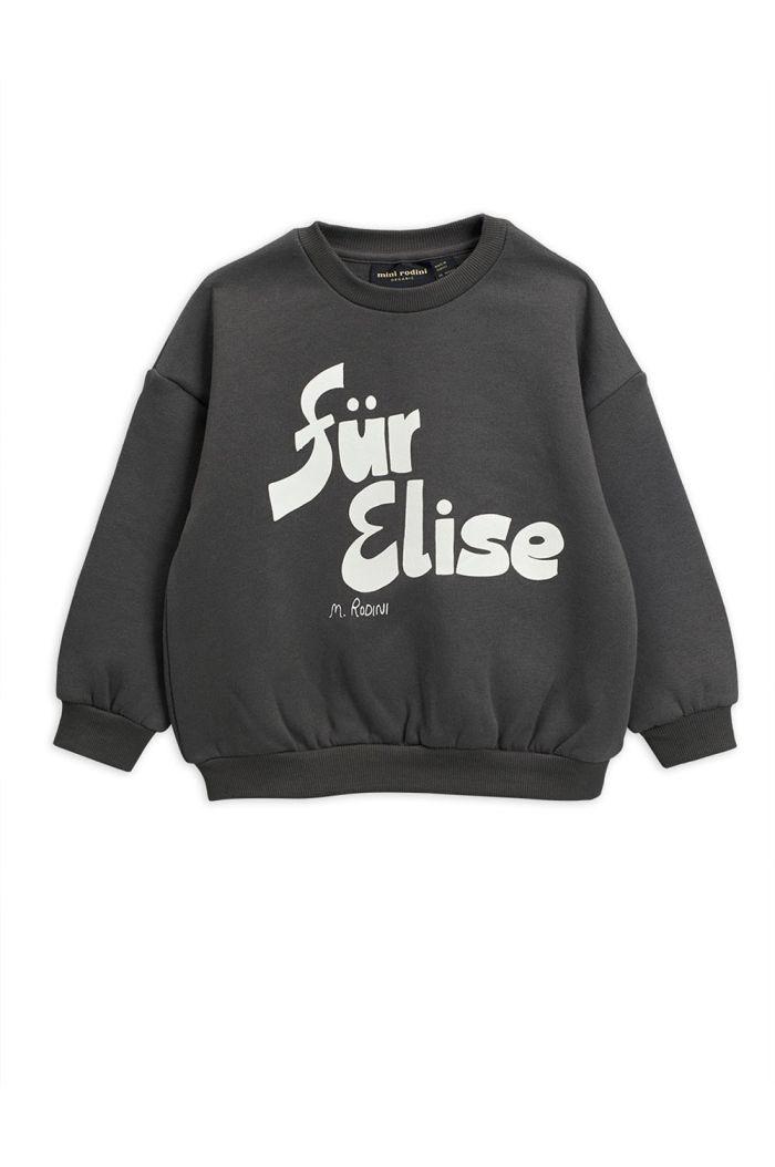 Mini Rodini Für Elise single print sweatshirt Grey_1