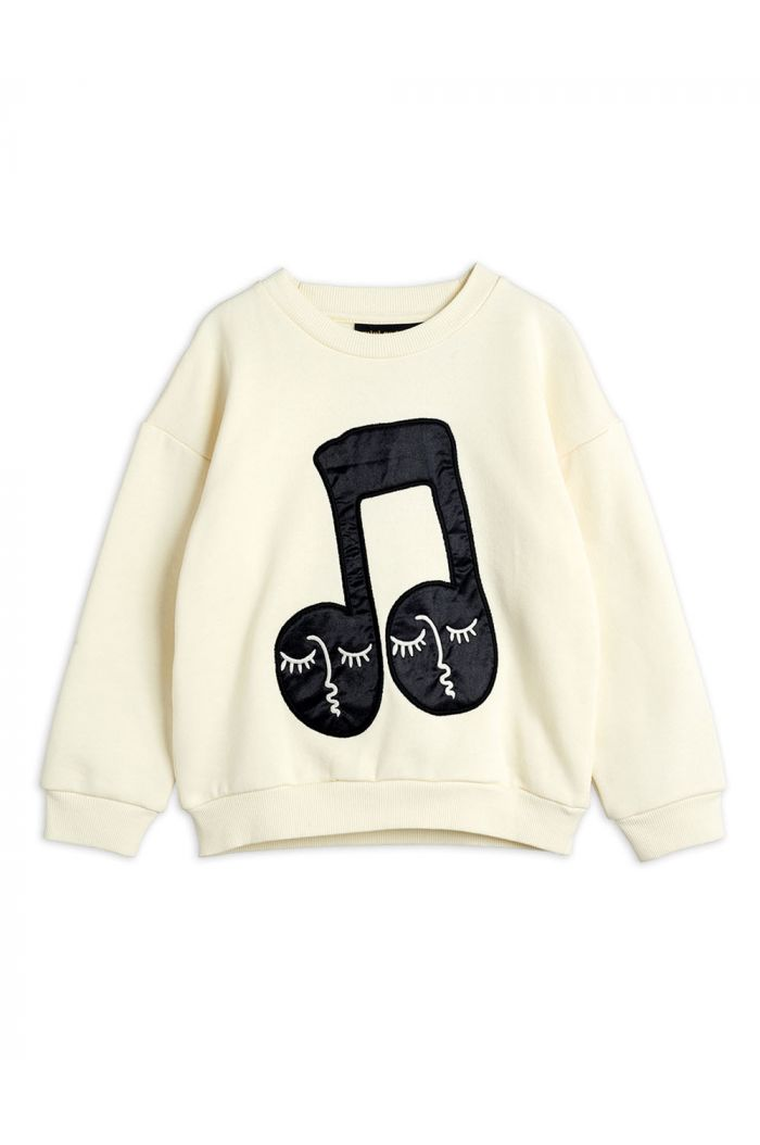 Mini Rodini Note patch sweatshirt Offwhite_1