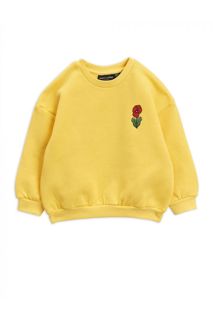 Mini Rodini Viola embroidery sweatshirt Yellow_1