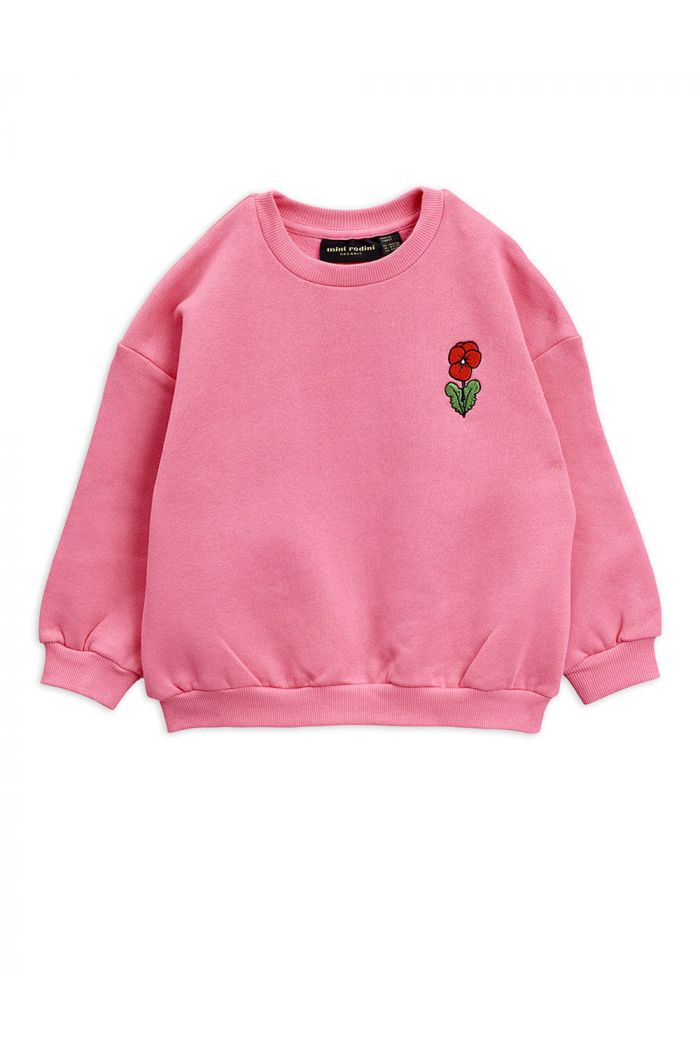 Mini Rodini Viola embroidery sweatshirt Pink_1