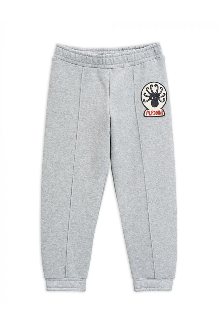 Mini Rodini Octopus patch sweatpants Grey melange_1