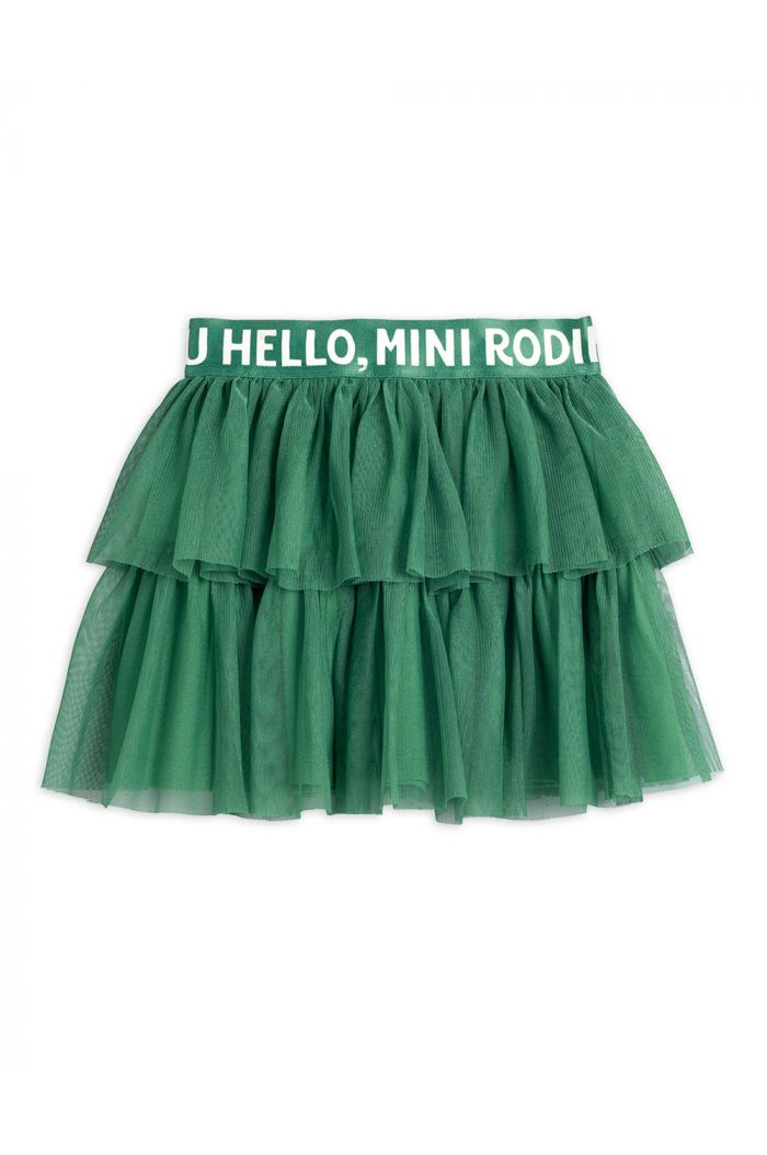 Mini Rodini Tulle skirt Green_1