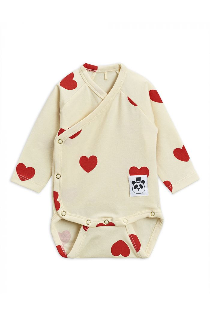 Mini Rodini Hearts wrap body TENCEL Offwhite_1