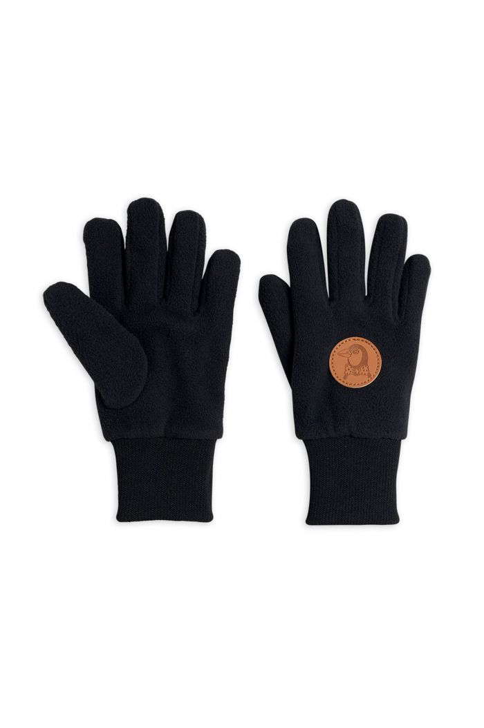 Mini Rodini FLEECE GLOVE black Black_1