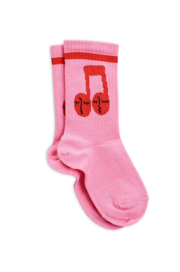 Mini Rodini Notes socks Pink
