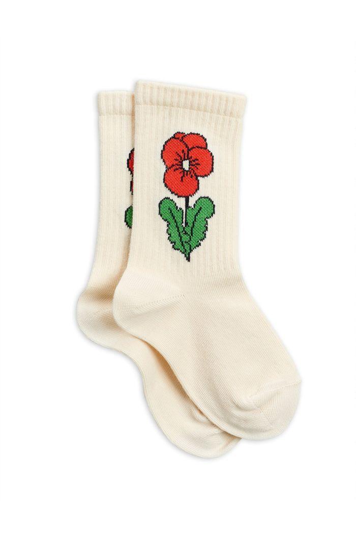 Mini Rodini Viola socks Offwhite