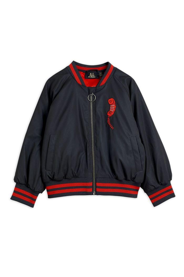 Mini Rodini Reflective baseball jacket Black_1