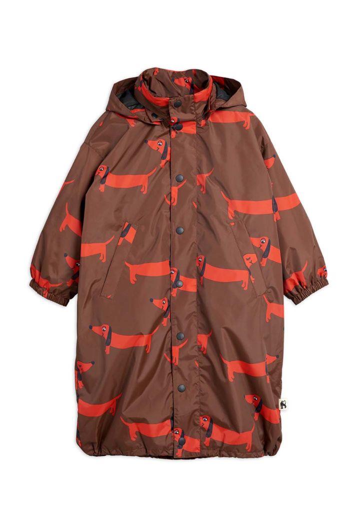 Mini Rodini Dog printed coat -LE- Red_1