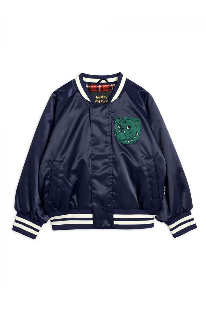 Mini Rodini Bulldog baseball jacket Navy_1