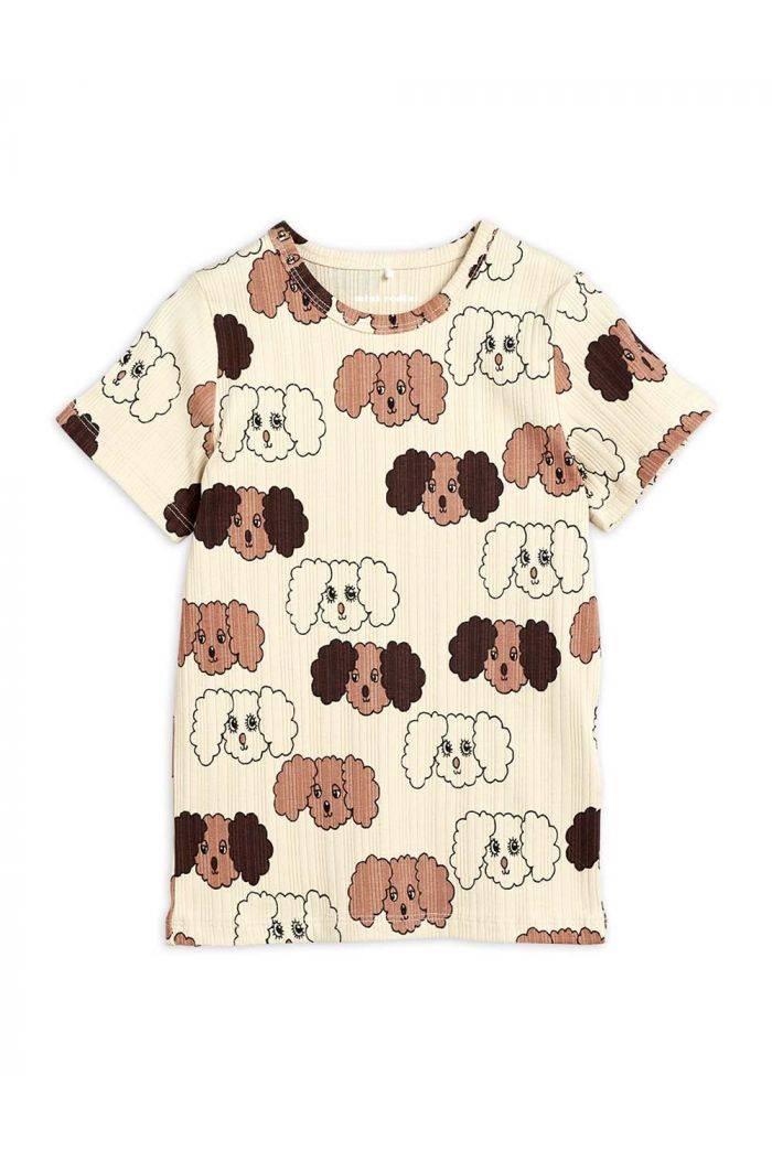 Mini Rodini Fluffy dog all-over print T-shirt Beige_1