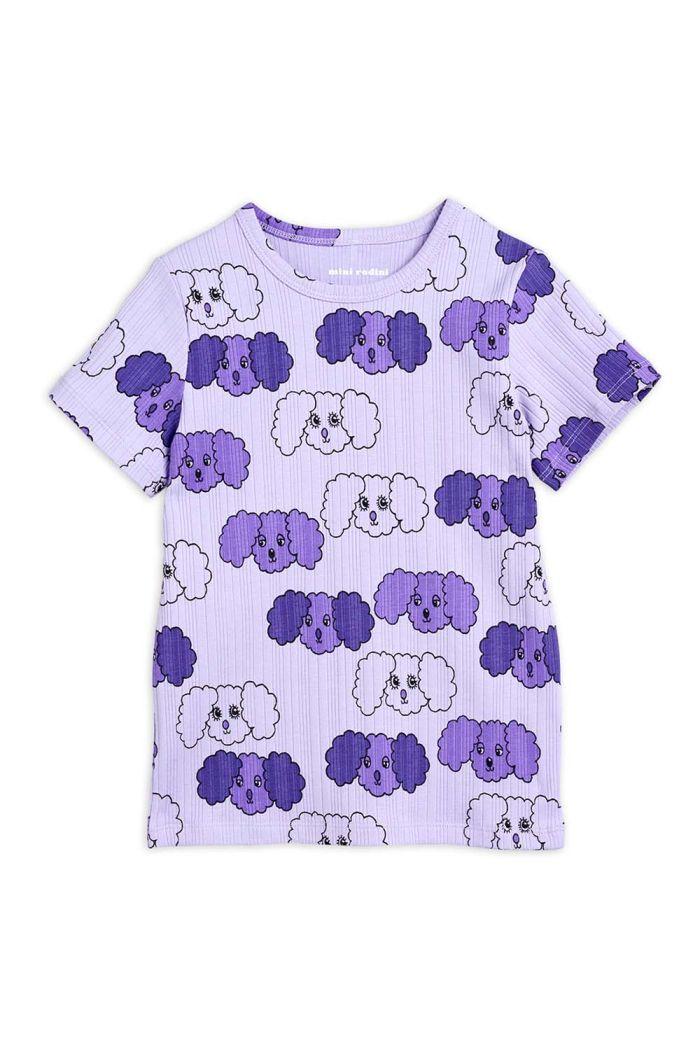 Mini Rodini Fluffy dog all-over print T-shirt Purple