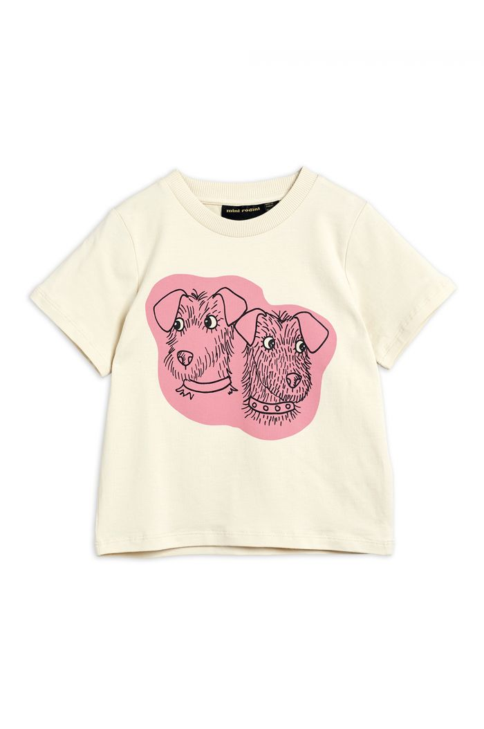 Mini Rodini Terrier single print tee Offwhite_1