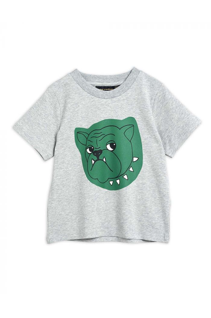 Mini Rodini Bulldog single print tee Grey melange_1