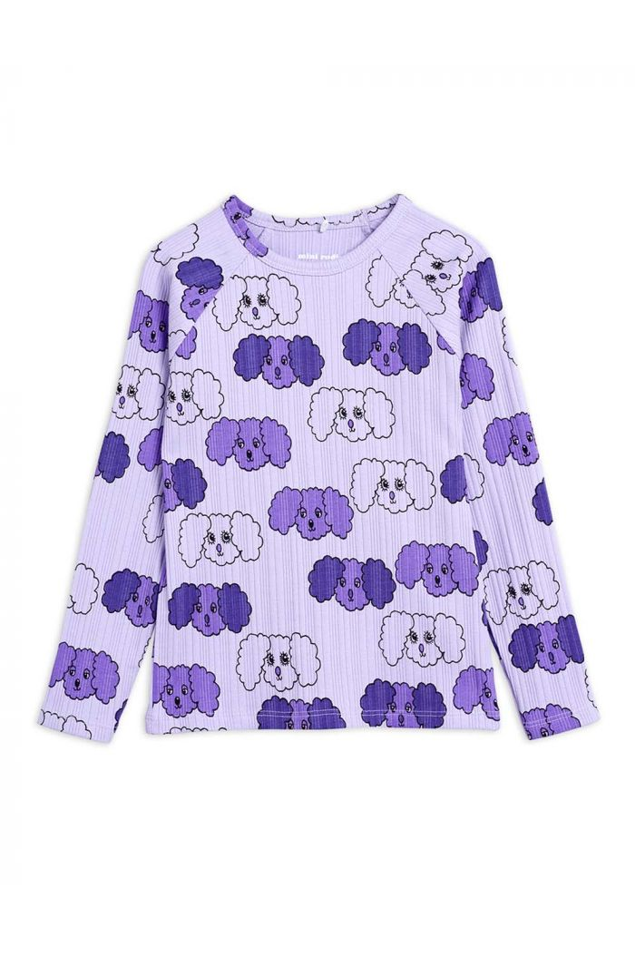 Mini Rodini Fluffy dog all-over print longsleeve Purple_1