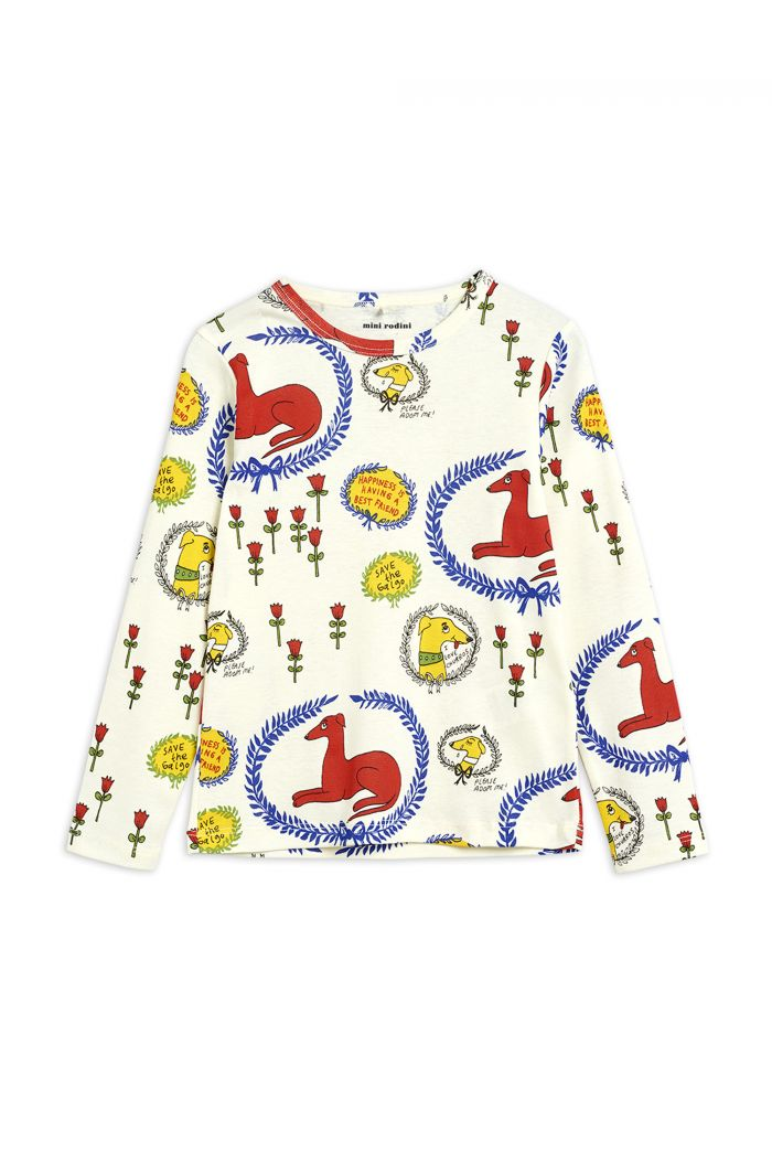 Mini Rodini Sighthound all-over print longsleeve Offwhite_1
